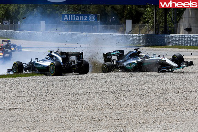Spanish -F1-Grand -Prix -crash