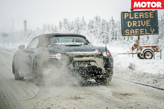 Porsche wheel spinning