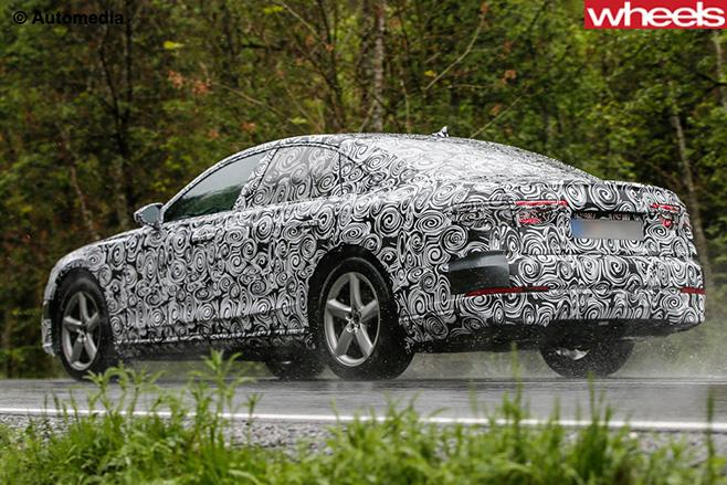 Audi -A8-rear -side