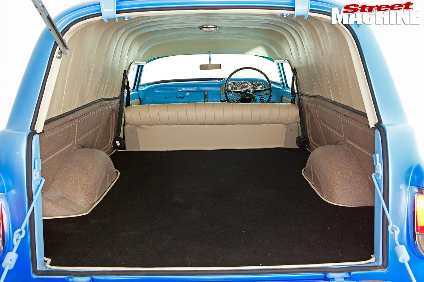 Holden -FB-van -interior -rear