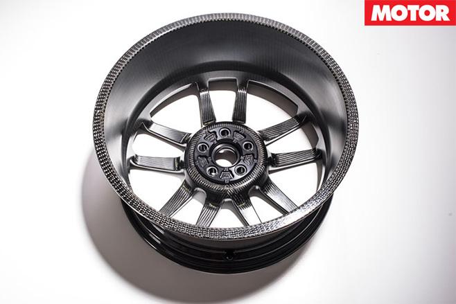 Carbon fibre wheels for Ford GT interior