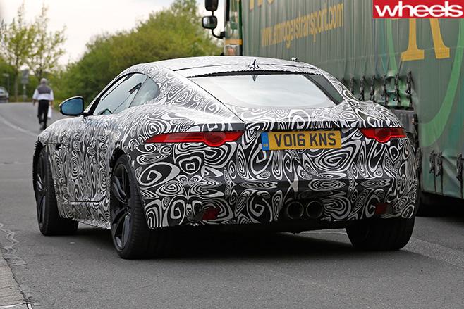 Jaguar -F-Type -rear -side -driving