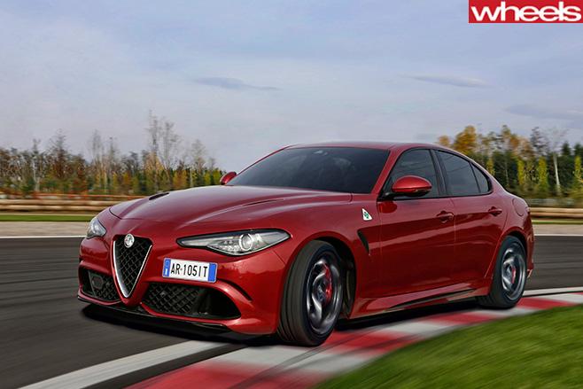 Alfa -Romeo _Quadrofoglio -front -driving