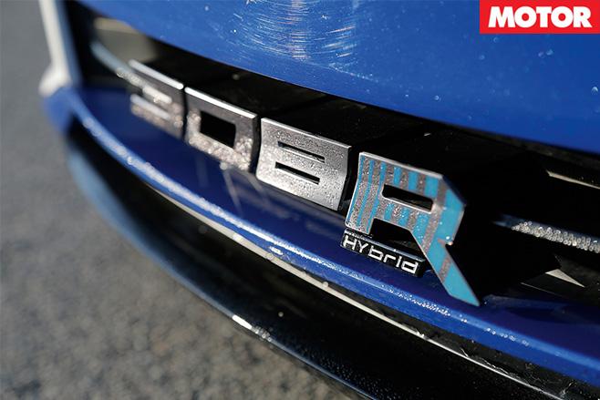 Peugeot 308 R Hybrid badge