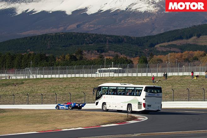 Bus crawling Fuji speedway