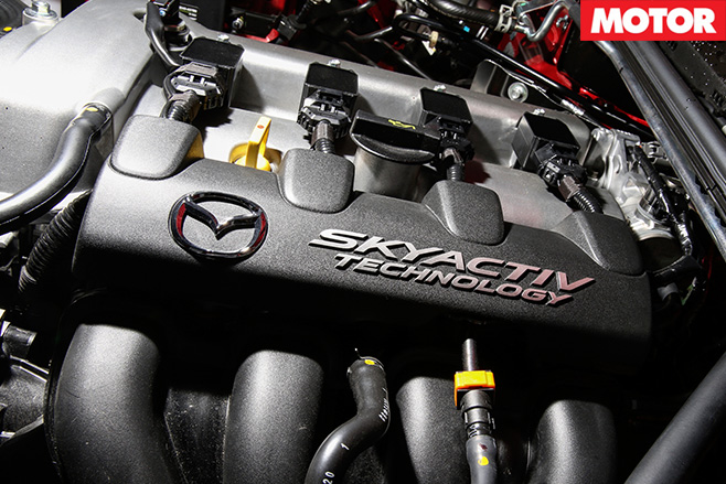Skyactiv engine close-up