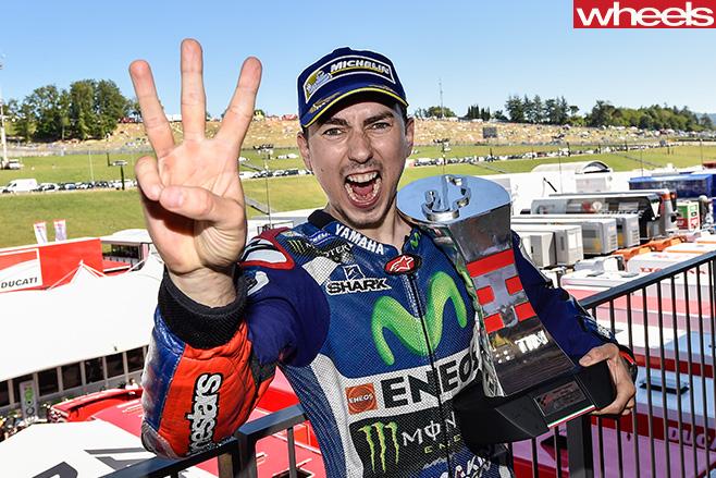 Lorenzo -Moto GP-winner