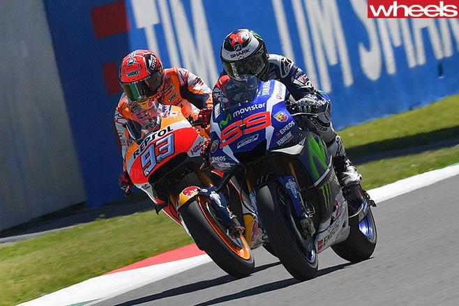 Lorenzo -Moto GP-battles -Marquez