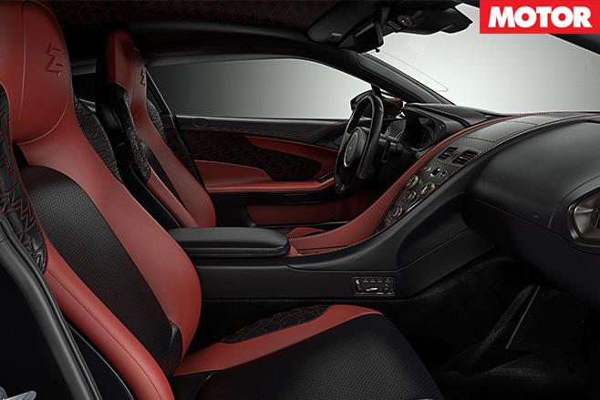 Aston -Martin Vanquish Zagato Concept interior