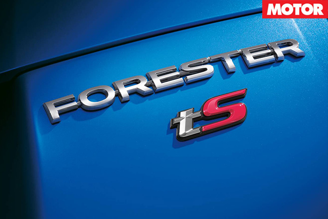 Subaru Forester tS badge