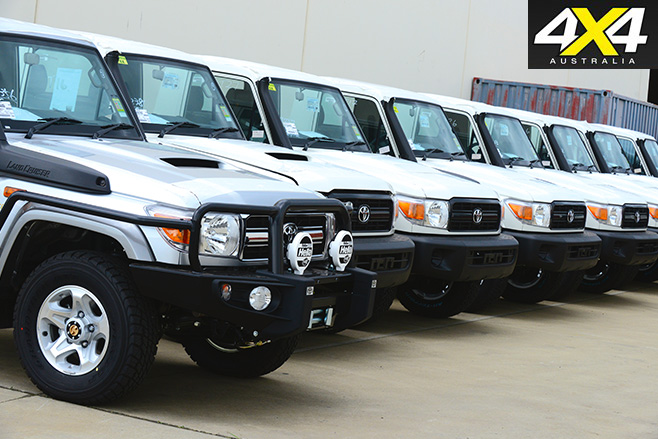 Toyota land cruisers side by side