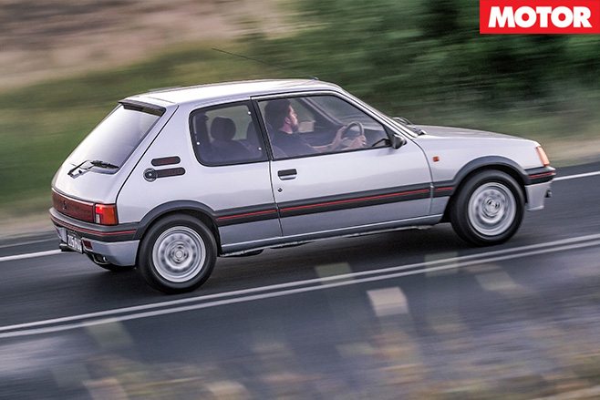 Peugeot 205 GTI driving side