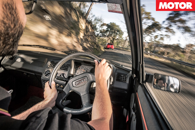 Driving the 205 gti
