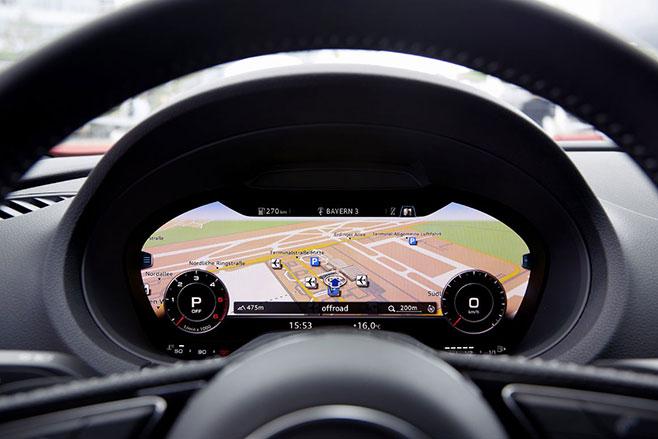Audi A3 gauges cockpit