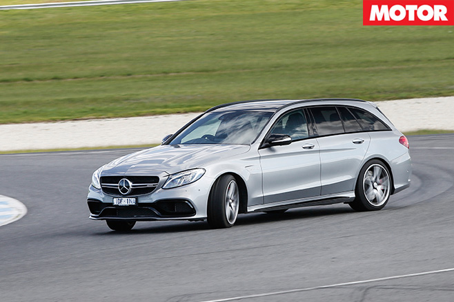 Mercedes-AMG C63 S Estate driving fast