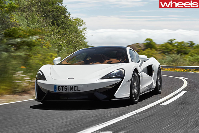 Mc Laren -570GT-driving -road -side