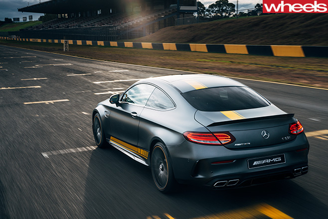 Mercedes -AMG-C63-rear -side -driving