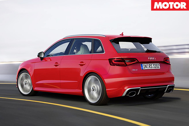 Audi RS3 rear driving