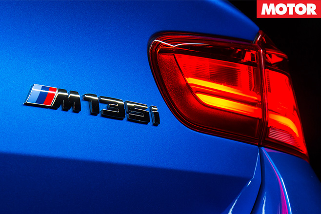 BMW M135i badge