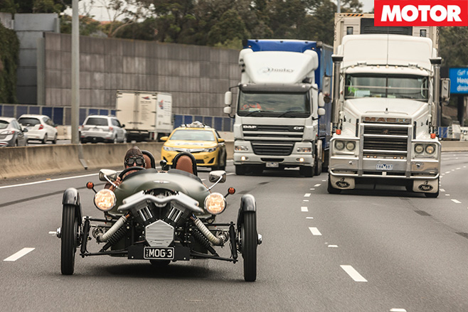 Driving the Morgan on the highway