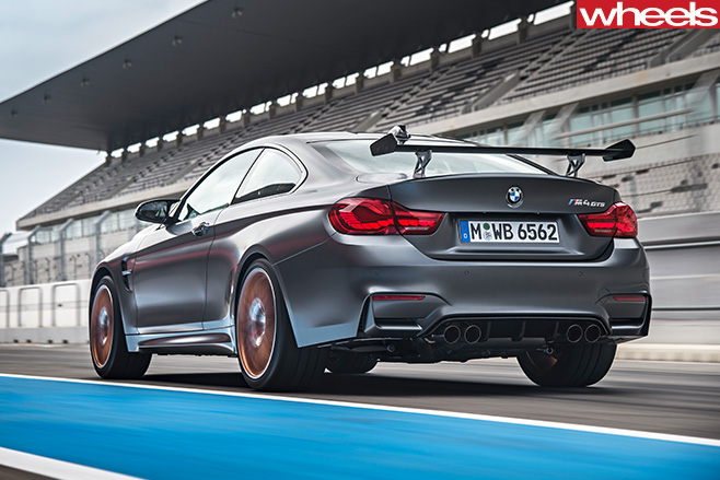 BMW-M4-GTs -rear -side