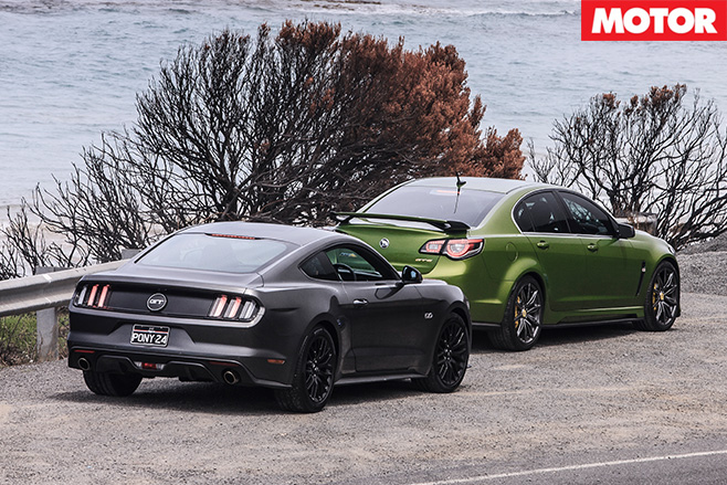 HSV GTS vs Ford Mustang GT side