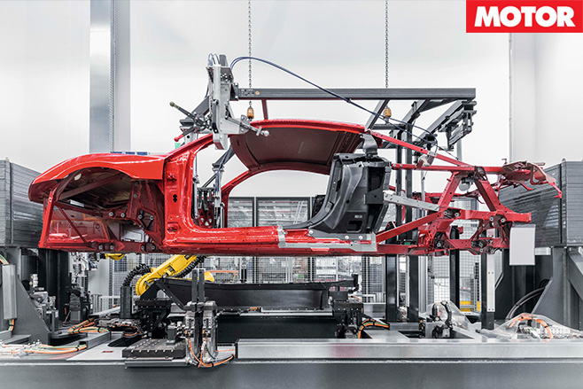 Audi r8 shell being built
