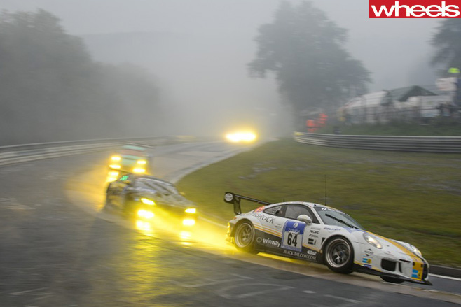 Porsche -BMW-racing -at -Nurburgring