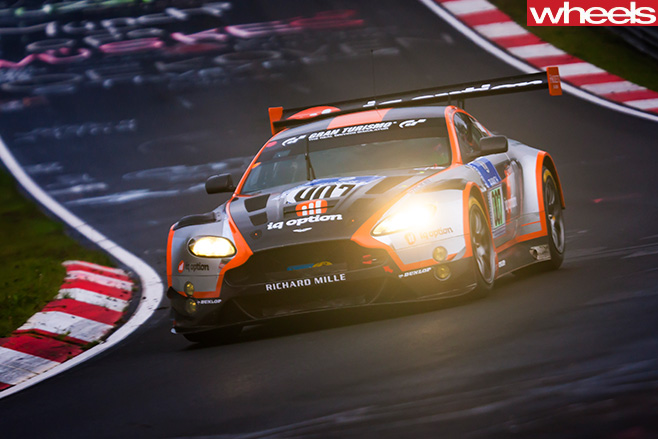 Aston -Martin -car -racing -at -Nurburgring