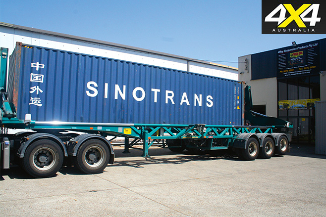 Distribution trucks