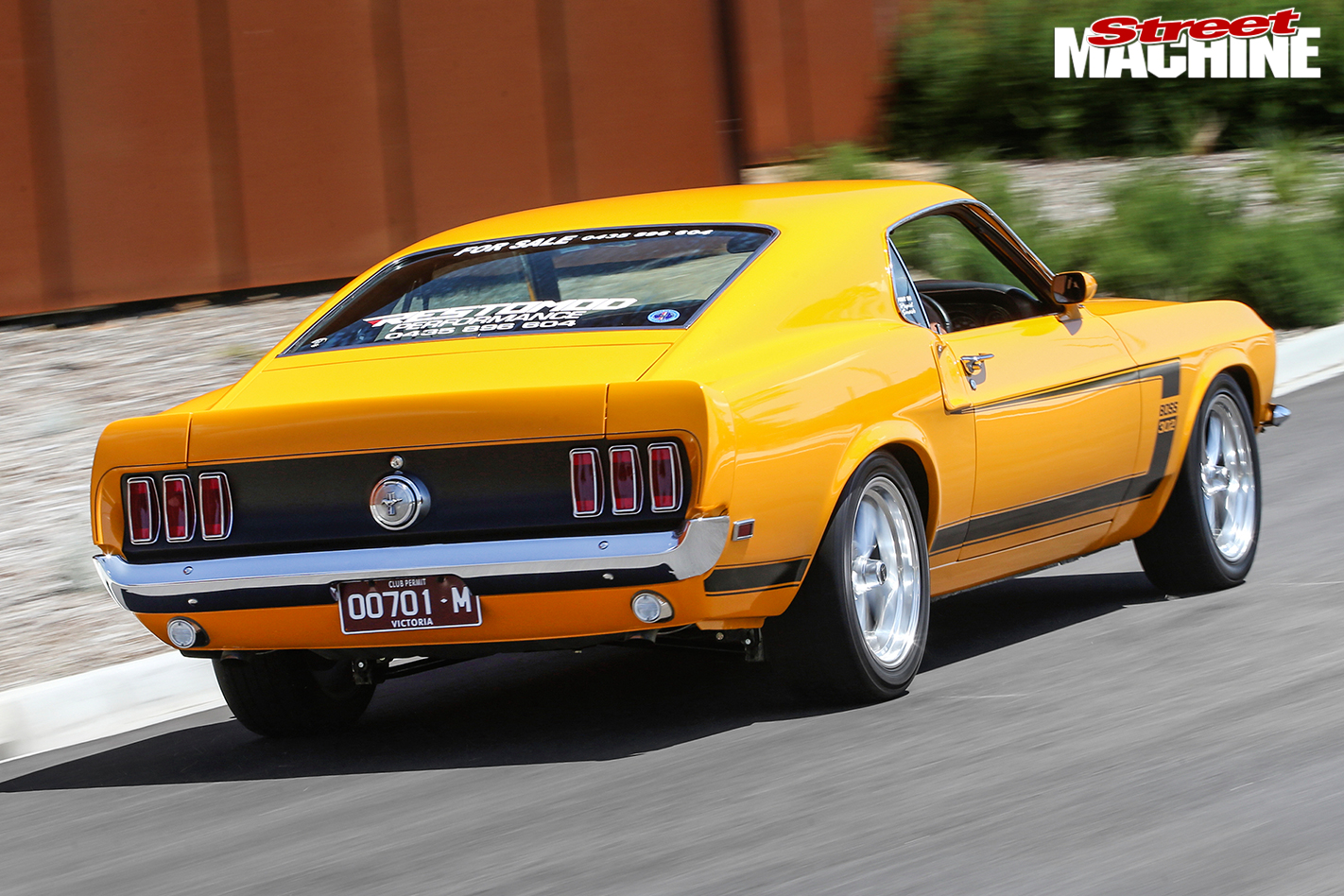 Ford -Mustang -BOSS-rear -onroad