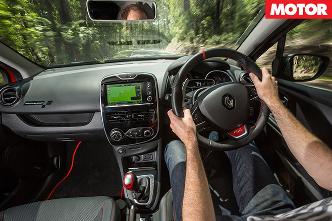 Renault Sport Clio -Trophy interior