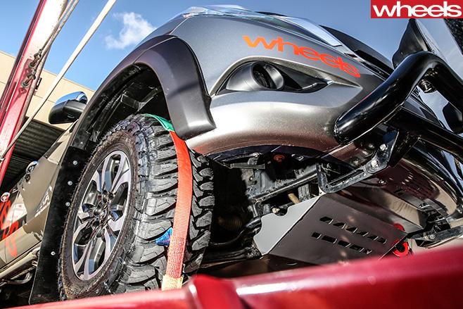 Toby -Hagon -Helmet -Mazda -BT-50-tray