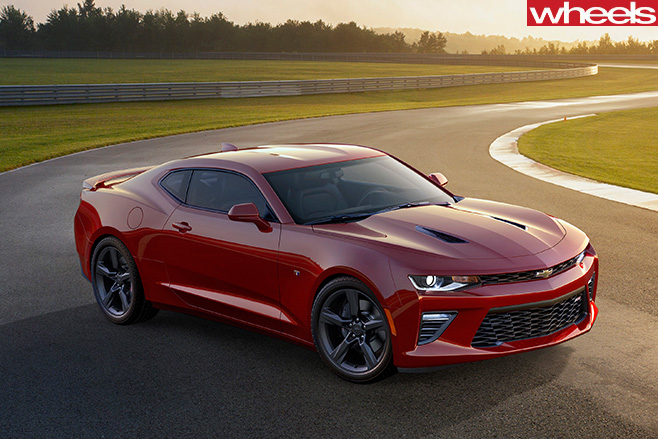 Chevrolet -Camaro -red -racetrack