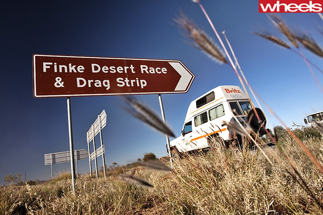 Finke -Desert -Race -and -drag -strip -sign
