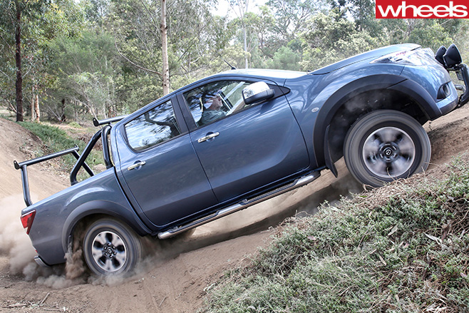 Mazda -BT-50-side -driving -up -hill