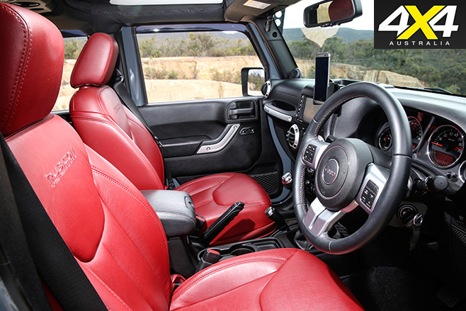 JK wrangler red interior