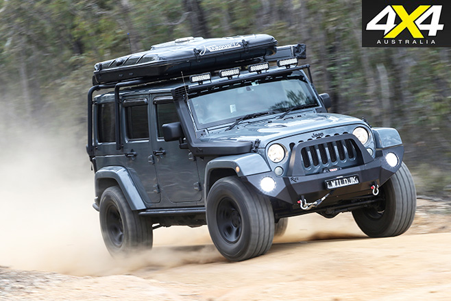 Jeep Wrangler Rubicon driving dirt roads