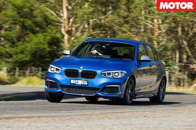 BMW M135i cornering