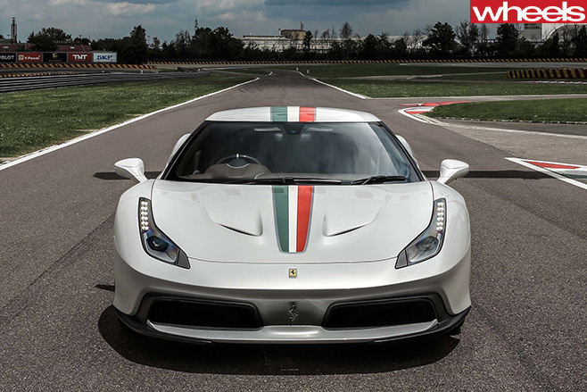 Ferrari -458-MM-Speciale -front -top