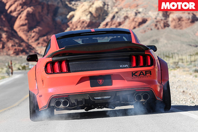 KAR Motorsport Mustang GT rear smoke