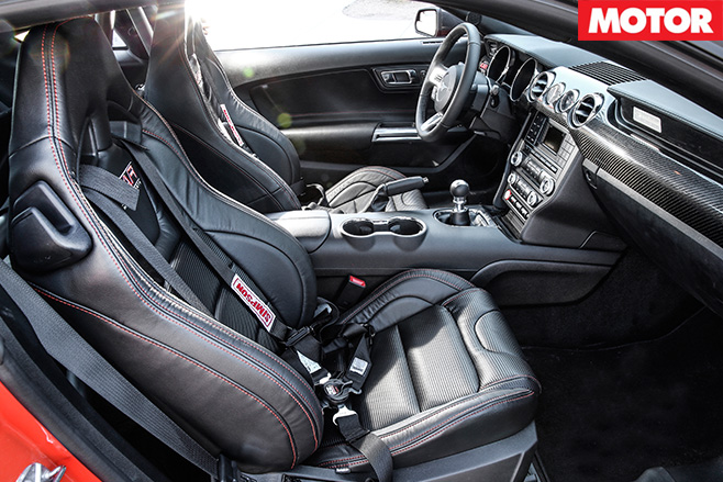 KAR Motorsport Ford Mustang interior