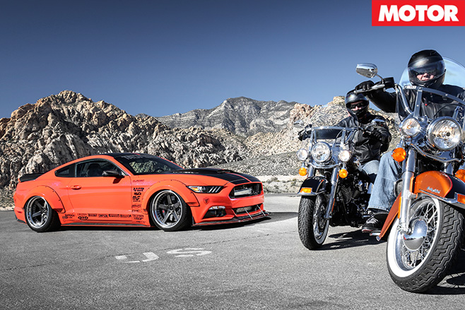 KAR mustang GT  and harleys