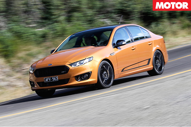 Ford Falcon XR8 Sprint driving fast