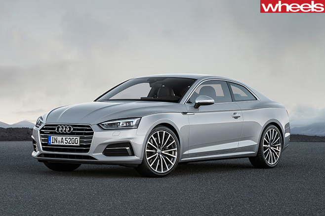 Audi -A5-silver -front -side