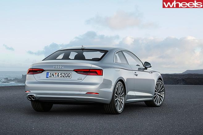 Audi -A5-silver -rear -side