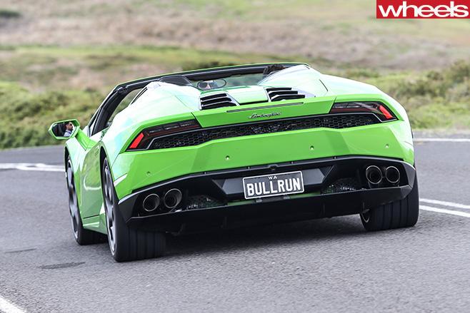 Lamborghini -Huracan -Spyder -driving -rear