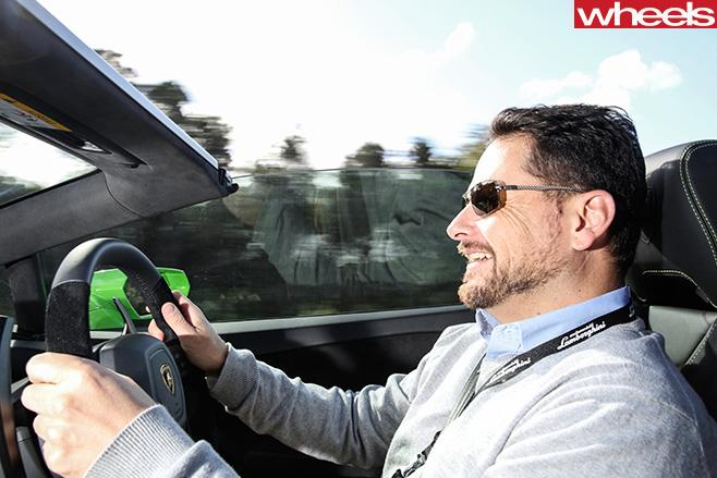 Lamborghini -Huracan -Spyder -Glenn -Butler -driving