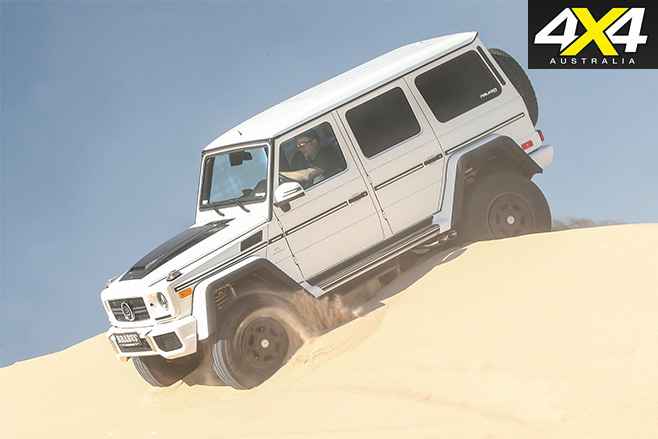 Off-road driving in the custom g63
