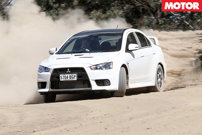 Mitsubishi lancer evolution driving